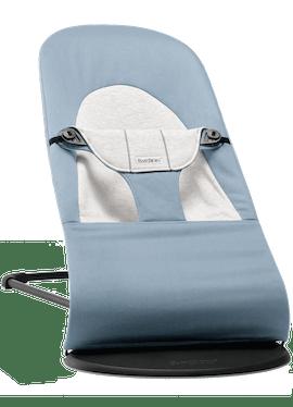 Bouncer Balance Soft Blue Grey Cotton Jersey - BABYBJÖRN