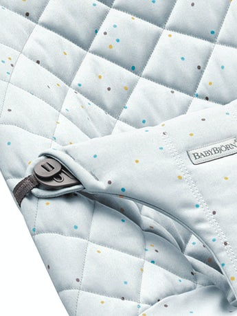 Extra Fabric Seat Baby Bouncer Blue Sprinkles Cotton - BABYBJÖRN