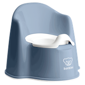 Potty Chari in Deep Blue and white made of BPA-free plastic - BABYBJÖRN