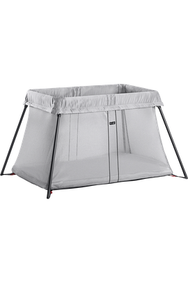 Travel Cot Light Silver in airy mesh - BABYBJÖRN