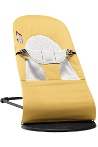 Baby Bouncer Balance Soft in Yellow/Gray Cotton-Jersey - BABYBJÖRN