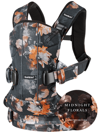 Baby Carrier One Air Black Midnight Florals Mesh - BABYBJÖRN