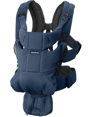 Baby Carrier Free Navy Blue in 3D Mesh - BABYBJÖRN