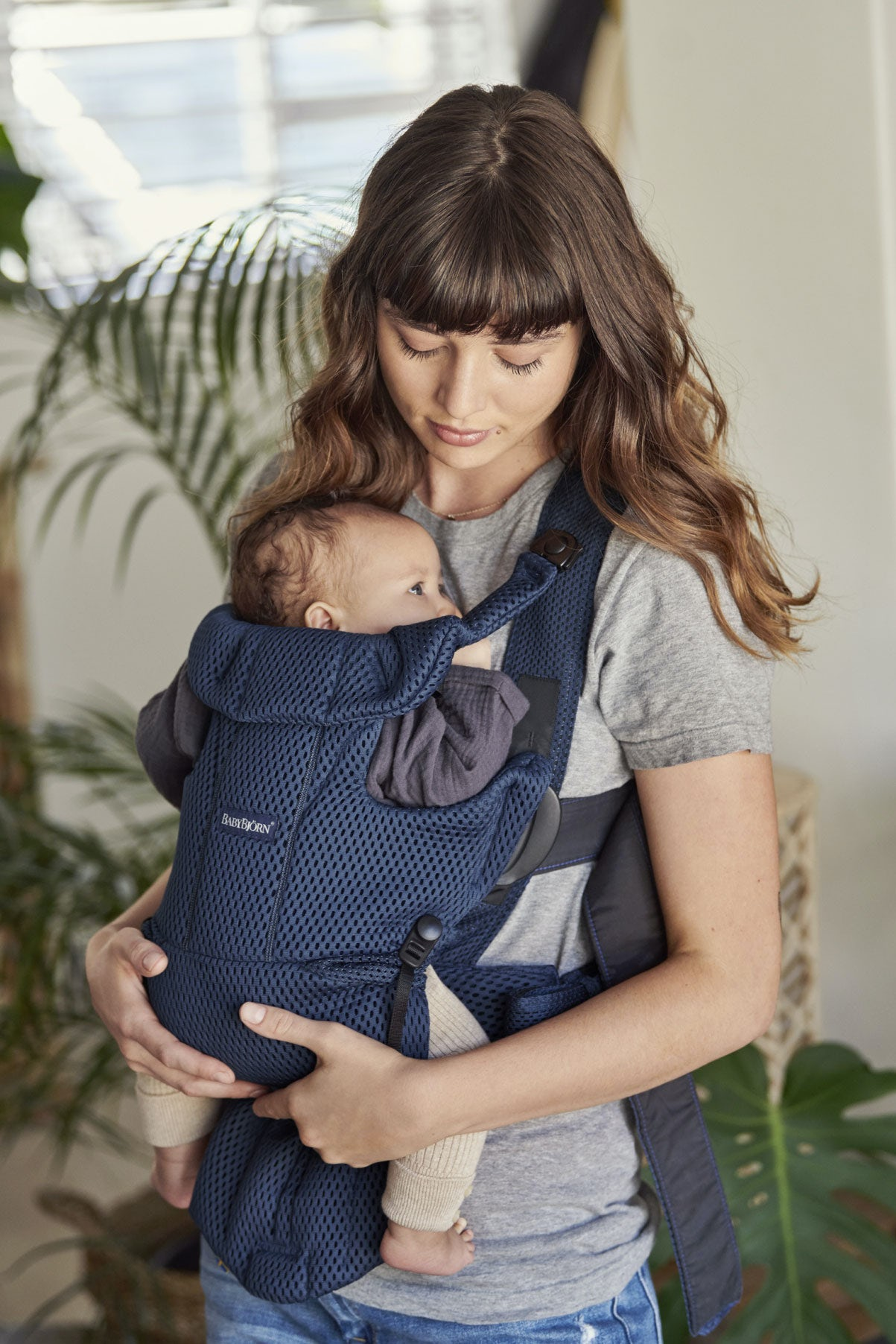 3D Mesh BABYBJ/ÖRN Baby Carrier Free Anthracite