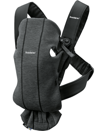 Baby Carrier Mini Charcoal gray in soft 3D Jersey - BABYBJÖRN