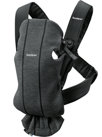 Baby Carrier Mini Charcoal Gray in 3D Jersey - BABYBJÖRN