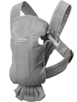 Baby Carrier Mini Gray in 3D Mesh - BABYBJÖRN