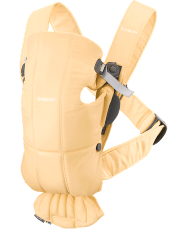 Baby Carrier Mini Light yellow in soft Cotton - BABYBJÖRN