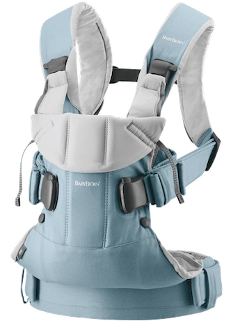 Baby Carrier One Light blue/Light gray Cotton-mix - BABYBJÖRN