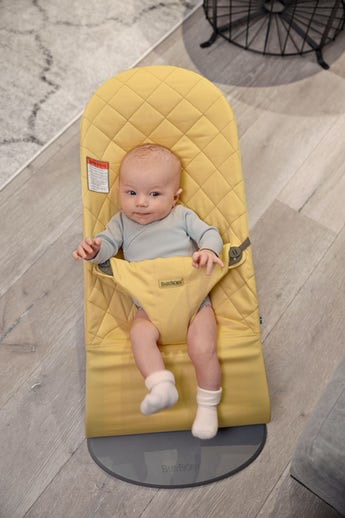 Bouncer Bliss Light yellow Cotton - BABYBJÖRN