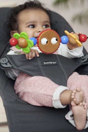 Bouncer Bundle Bliss Anthracite with toy Googly Eyes - BABYBJÖRN