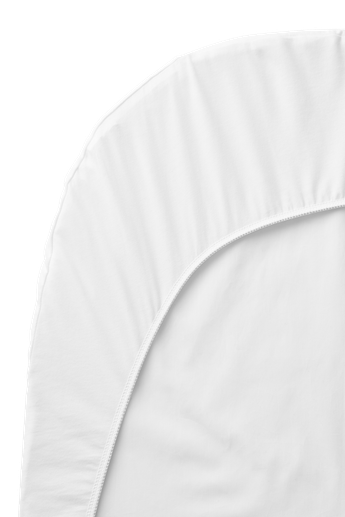 Fitted Sheet for Baby Crib in White Organic Cotton - BABYBJÖRN