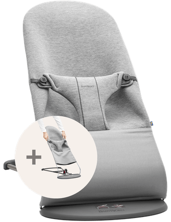 BABYBJÖRN Bouncer Bliss Bundle with extra fabric seat in soft and cosy jersey