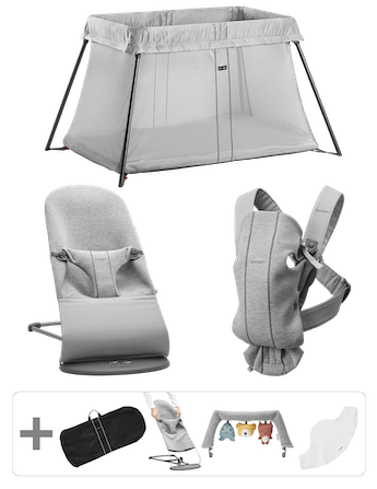 Premium Starterkit Light grey with all you need for your newborn - BABYBJÖRN