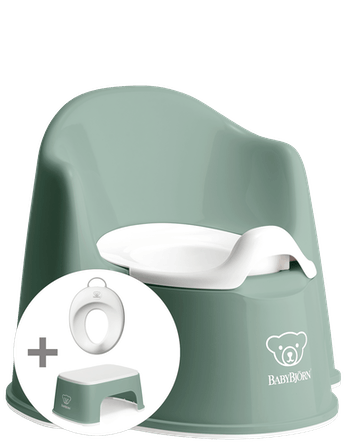 Potty training kit in BPA-free plastic and clever design - BABYBJÖRN