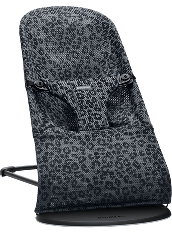 Baby Bouncer Bliss in Anthracite Leopard Mesh - BABYBJÖRN