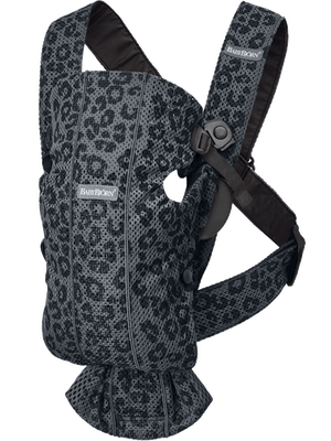 BABY CARRIER MINI 3D Mesh Anthracite/Leopard 3D Mesh