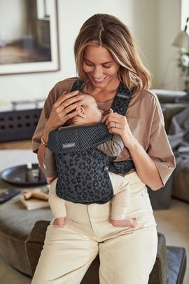 BABY CARRIER MINI 3D Mesh Anthracite/Leopard 3D Mesh