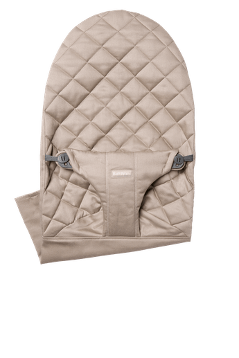 Fabric Seat for bouncer Bliss in Sand grey soft and quilted cotton - BABYBJÖRN