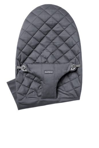 Fabric Seat for bouncer Bliss in Anthracite soft and quilted cotton - BABYBJÖRN
