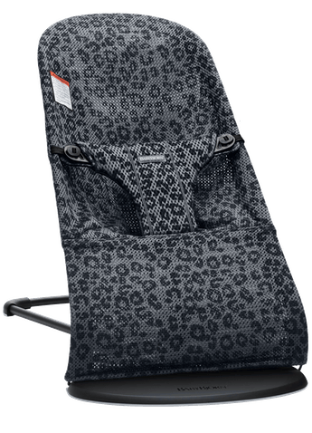 Bouncer Bliss in Anthracite/Leopard in Mesh - BABYBJÖRN