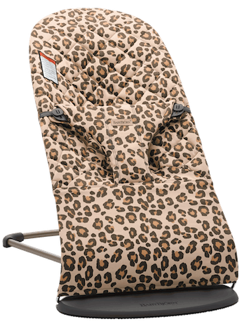 Bouncer Bliss in Beige/Leopard in Cotton - BABYBJÖRN