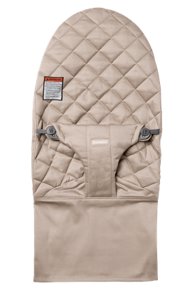 Extra Fabric Seat for Bouncer Bliss in Sand Gray soft guilted Cotton - BABYBJÖRN