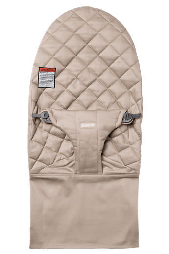 Fabric Seat for Bouncer Bliss in Sand Gray in soft quilted Cotton - BABYBJÖRN