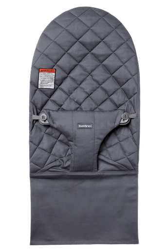 Fabric Seat for Bouncer Bliss in Anthracite in soft quilted Cotton - BABYBJÖRN