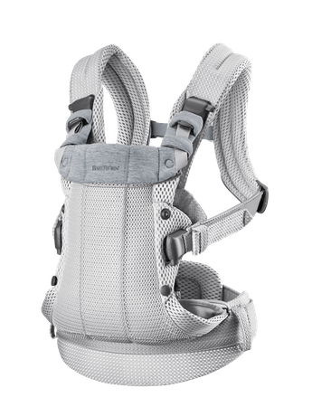 Baby Carrier Harmony Silver 3D Mesh with padded back support and an ergonomic design.
