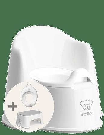 Kit d'apprentissage de la propreté Blanc/Gris