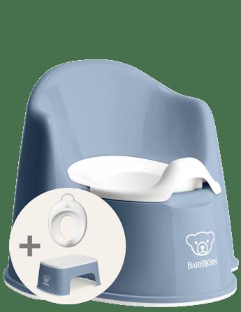 Kit d'apprentissage de la propreté Bleu Profond/Blanc