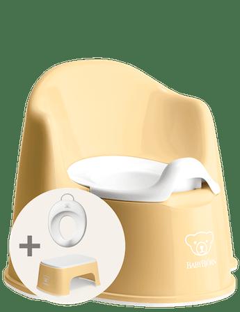 Kit d'apprentissage de la propreté Jaune Pastel/Blanc