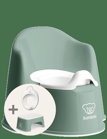 Kit d'apprentissage de la propreté Vert Profond/Blanc