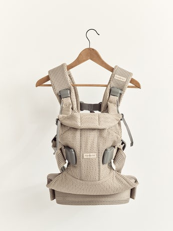 Baby Carrier One Air Gray beige, 4 carrying positions incl back carrying