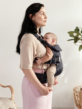 Baby Carrier One Air Anthracite Leopard, 4 carrying positions incl back carrying