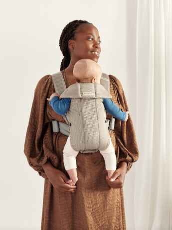 Porte-bébé Mini Beige Gris en Filet 3D, créé spécialement pour les nouveau-nés
