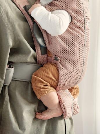 Porte-bébé Mini Rose Poudré Filet 3D, créé spécialement pour les nouveau-nés