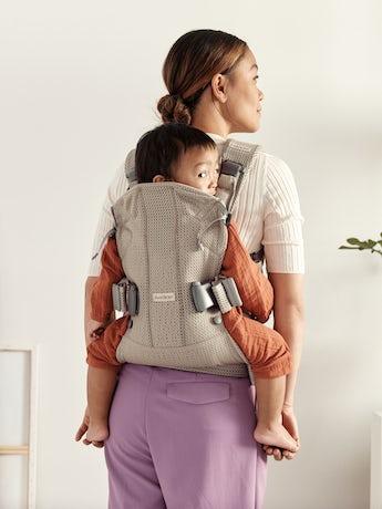 Porte-bébé One Air Beige Gris en Filet 3D, avec quatre positions de portage