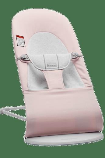 Siège Sauteur Balance Soft Rose Clair/Gris en Coton-jersey