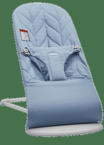 Siège Sauteur Bliss Bleu en Coton Matelassage en pétales - BABYBJÖRN