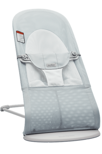 Bouncer Balance Soft in Silver/White Mesh and Light gray frame