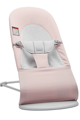 Bouncer Balance Soft in Lightpink Gray Cotton Jersey and Light gray frame