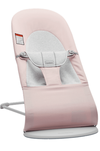 Bouncer Balance Soft in Light pink Gray Cotton/Jersey and Light gray frame
