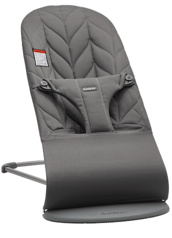 Bouncer Bliss in Anthracite Cotton Petal Quilt with Light gray frame