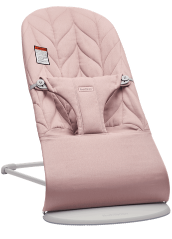 Bouncer Bliss Dusty Pink Cotton Petal quilt with Light gray frame