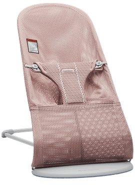 Bouncer Bliss Dusty Pink Mesh with Light gray frame